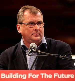 Mark Lennon speaks at the ALP State Conference in Sydney Town Hall.  14th July 2012  Photo: Janie Barrett