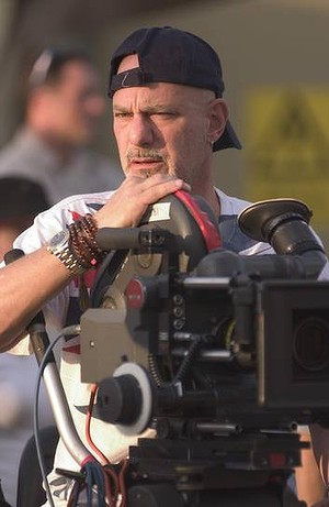 Director Rob Cohen on the set of the film Stealth.