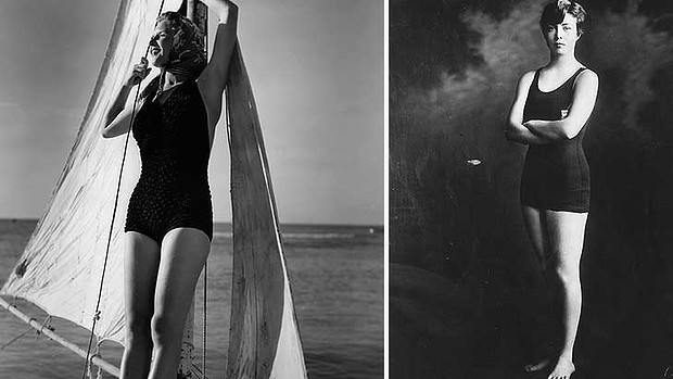 Back to the 50s ... the one-piece is back for Miss Italia contestants.