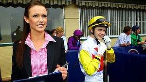 katie Atherton nsw racing cadet steward the first female steward working at Hawkesbury race track.