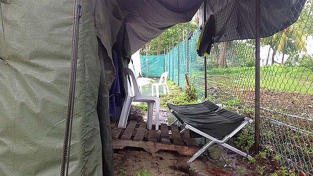 Manus Island processing camp.
