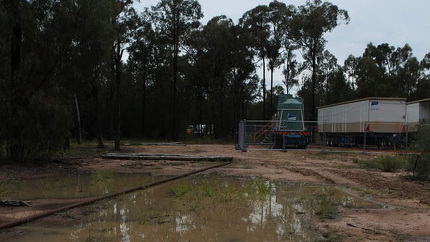 Water waste ... a coal seam gas operation site in the Pilliga.