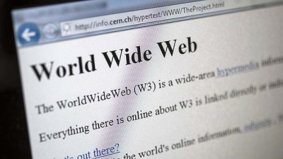 A 1992 copy of the world's first web page.