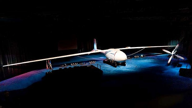 Boeing's Phantom Eye has a 45-metre wingspan and can stay in the sky for five days.