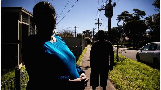 Uncertain fate: Tamil asylum seekers Ruby and Ganesh Selva at their new Melbourne home.