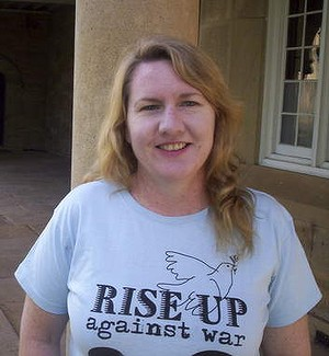 All we are saying ... anti-war activist Donna Mulhearn.
