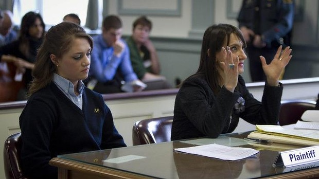 Legal process: Rachel Canning with her lawyer Tanya Helfand.