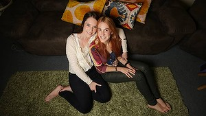 Same sex couple and Steph McIlroy (left) and Claire Eden hope to marry at the British consulate later this year.