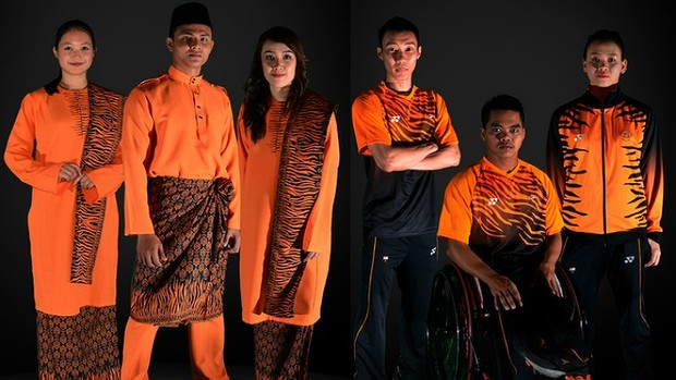 The Malaysian uniforms are sharp, like a Tiger's claw or glass of 100 per cent orange juice.