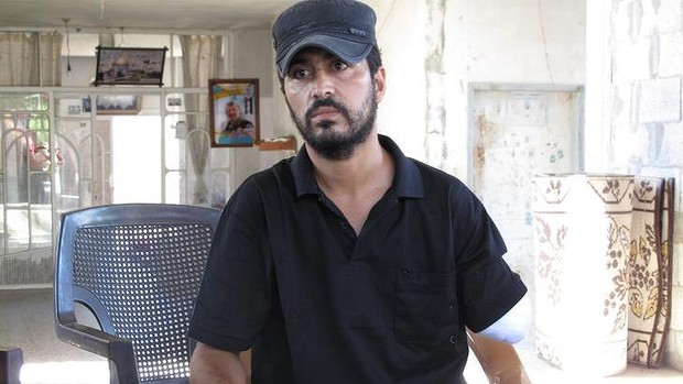 Nabil Siyam, 33, lost his left arm in the attack on July 21 in which his wife and four children were killed. A fifth child is dangerously ill in hospital.