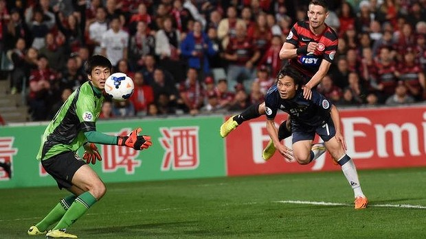 Great run: Shannon Cole scores for the Wanderers in the ACL earlier this week.