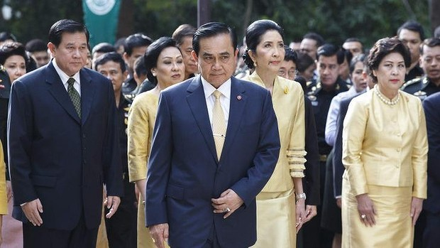 Military rule: Former army commander Prayuth Chan-ocha attends a ceremony to pray for the health of King Bhumibol Adulyadej.
