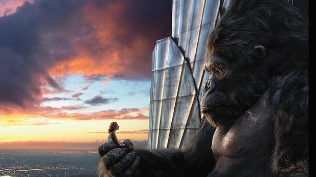 Naomi Watts and giant ape in Peter Jackson's <i>King Kong</i>.