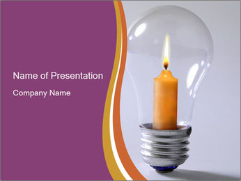 candle inside light bulb