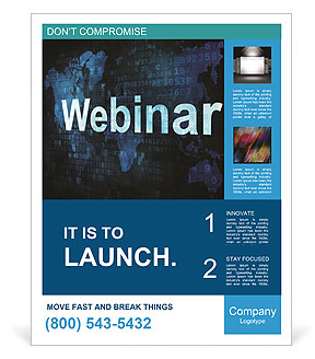 webinar on line poster template