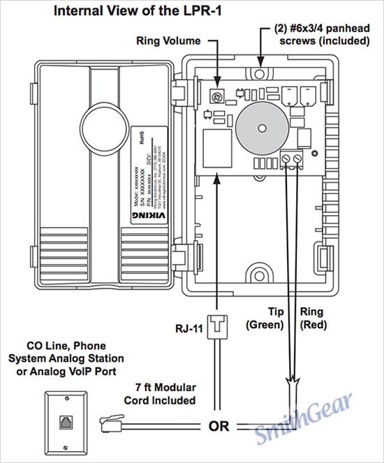 Viking LPR-1 Line Powered Telephone Ringer