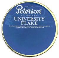 Tinned Pipe Tobaccos: Peterson University Flake 50g at ...