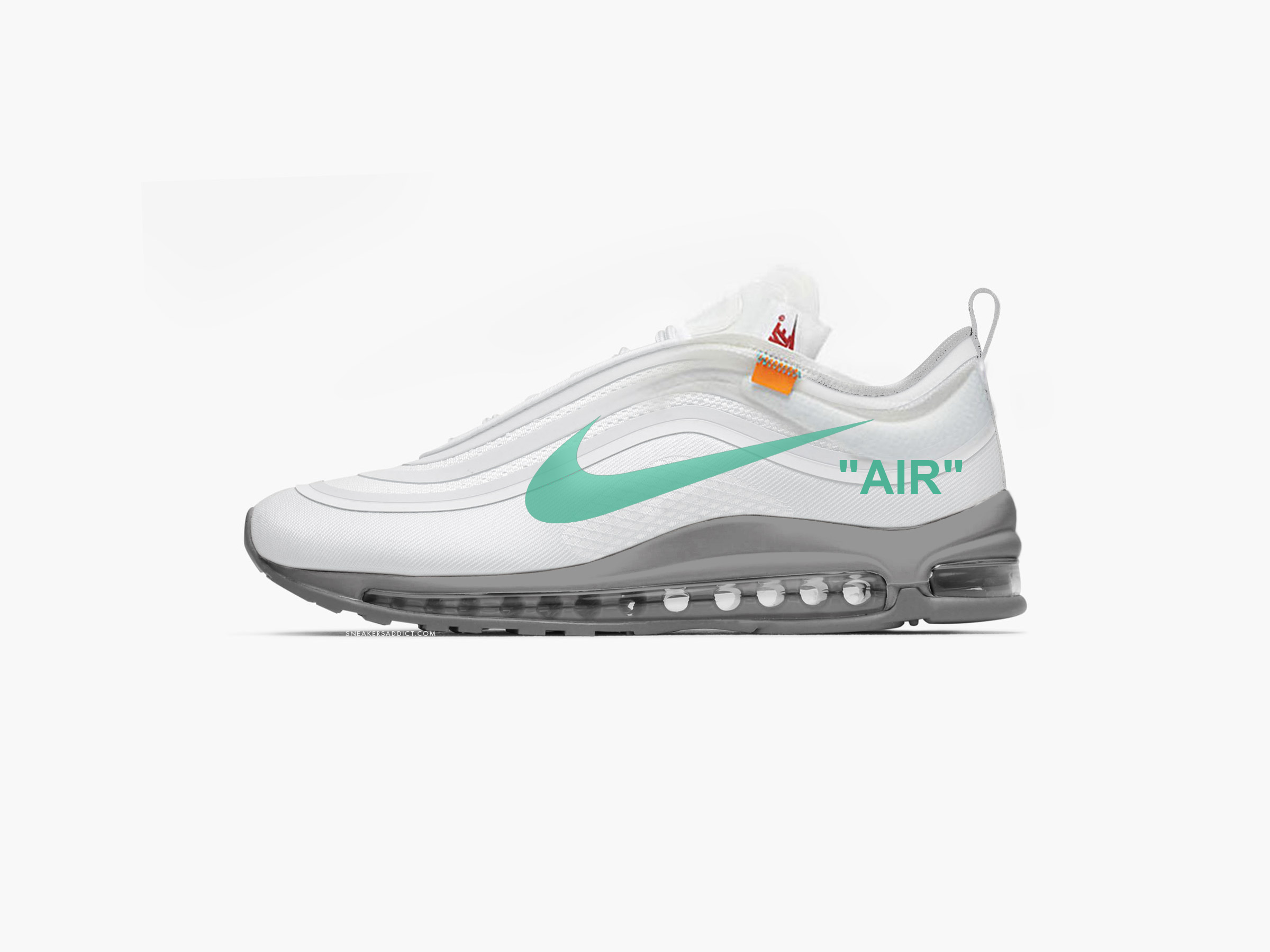 aa242ca40e Off White X Nike Air Max 97 Menta December 8 | white x nike air max ...