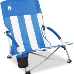 Folding Low Beach Chair Oversized And A Half With Ottoman Sling Snowys Outdoors Coleman