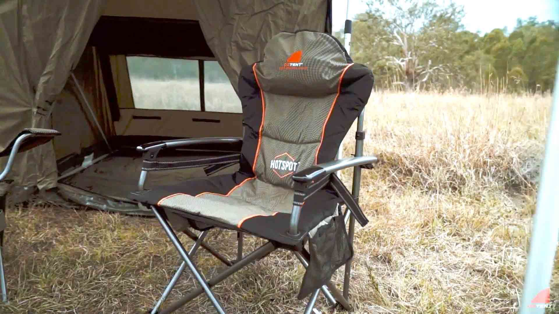 oztent king kokoda chair review portable travel high harness hotspot free delivery snowys