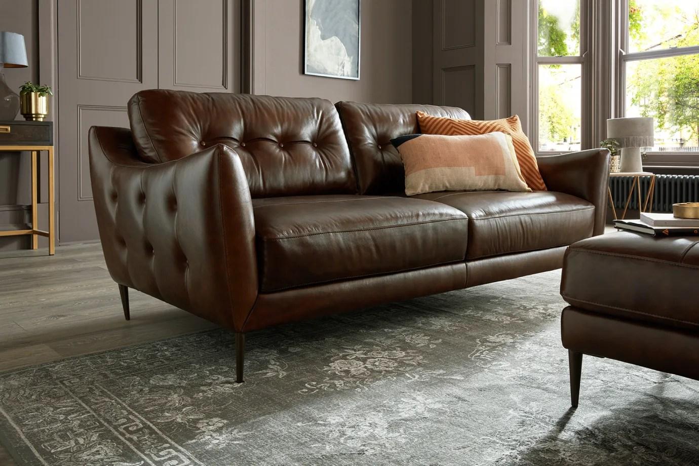 leather sofas sofology