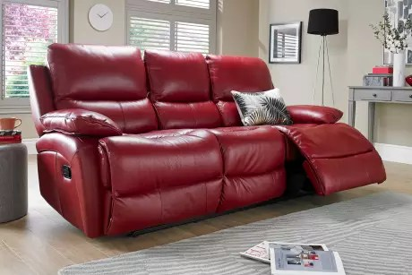 Red Leather Recliner Sofa Uk  Brokeasshomecom