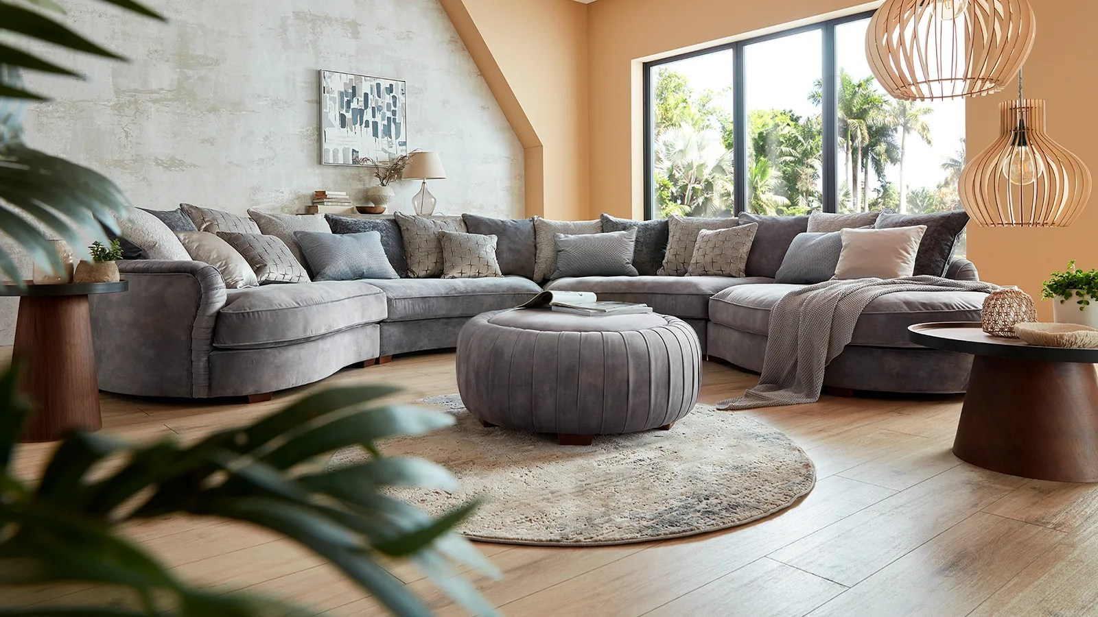 corner sofas leather and fabric