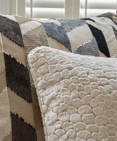 paloma sofa sofology blue striped sectional range detail 4