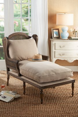 bedroom chair with skirt papasan frame repair french country furniture unique soft surroundings quickshop le touquet caned chaise