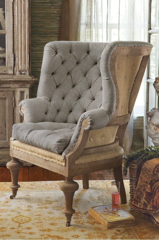 Fontaine Wingback Chair  Tufted Wingback Chair Wingback