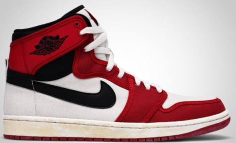 Air Jordan 1 High Retro KO Vintage White Black Varsity Red