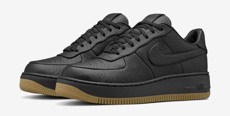Upstep Nike Air Force 1 Black Gum