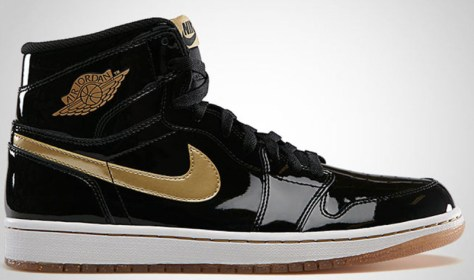 Air Jordan 1 Retro High OG Black Metallic Gold White
