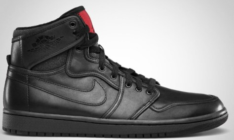 Air Jordan 1 Retro KO High Premium Black Anthracite Varsity Red