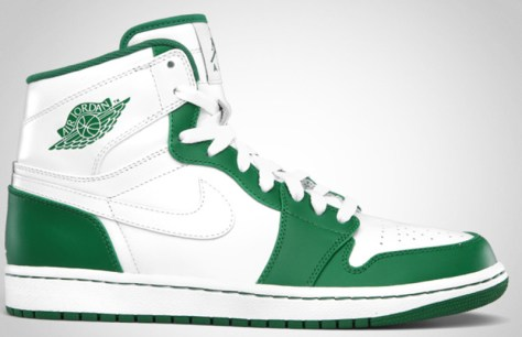 Air Jordan 1 High Retro White White Pine Green