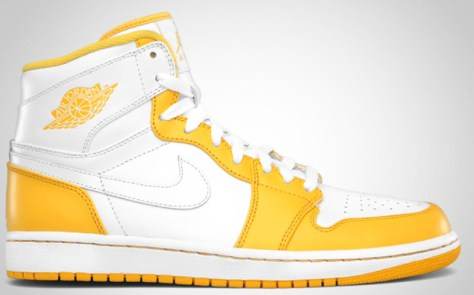 Air Jordan 1 Retro High White White Varsity Maize