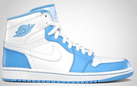 Air Jordan 1 High Retro White White University Blue