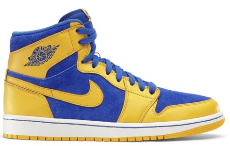 Air Jordan 1 Retro High OG Varsity Maize Game Royal White