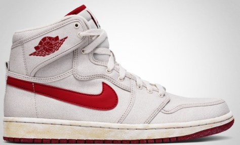 Air Jordan 1 High Retro KO Vintage White Varsity Red