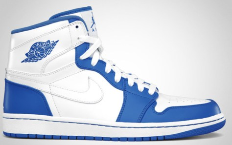 Air Jordan 1 High Retro White White Varsity Royal