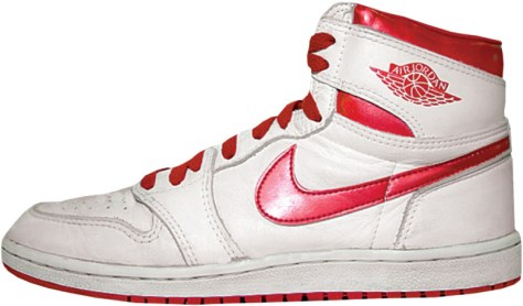 Air Jordan 1 High OG White Metallic Dark Red