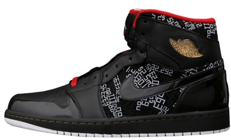 Air Jordan 1 High Retro HOF Black Varsity Red White Metallic Gold