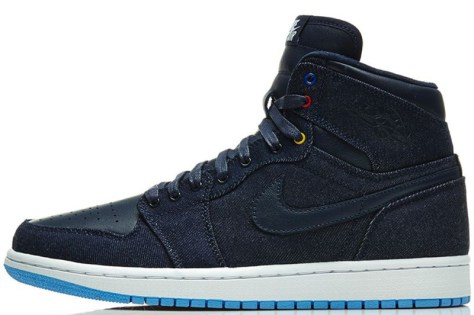 Air Jordan 1 Retro High OG Obsidian White Dark Powder Blue Game Royal