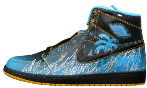 Air Jordan 1 High Retro DB Black Vivid Blue Varsity Maize White