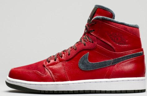 Air Jordan 1 Retro High Premier Varsity Red Dark Army White