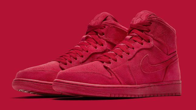 Air Jordan 1 High Red Suede Release Date Main 332550-603