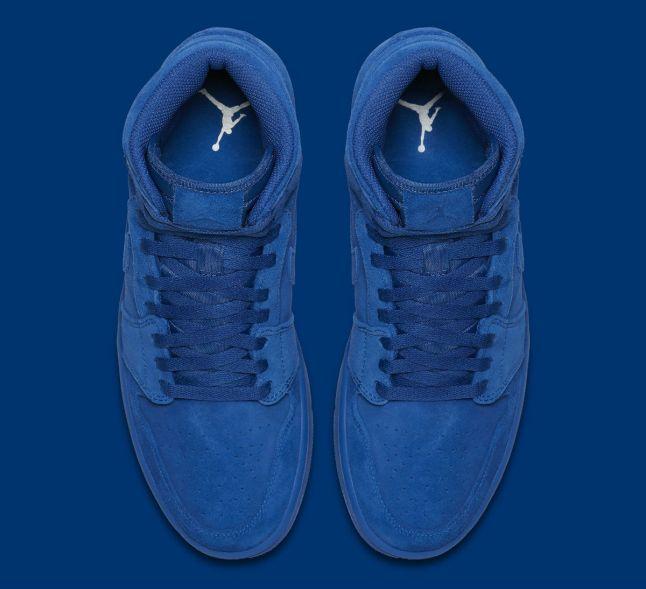 Air Jordan 1 High Blue Suede Release Date Top 332550-404