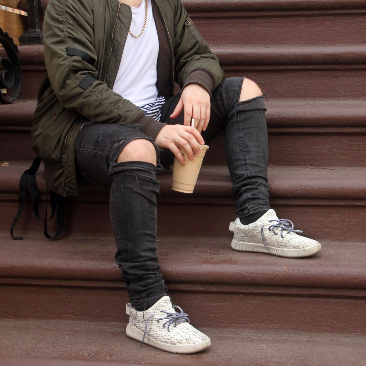 how wearing fake sneakers