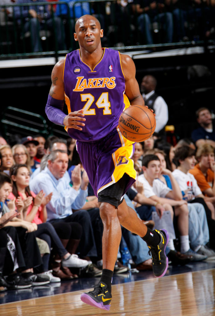 Kobe Bryant Wears Lakers Away Nike Kobe 8 System  Sole Collector