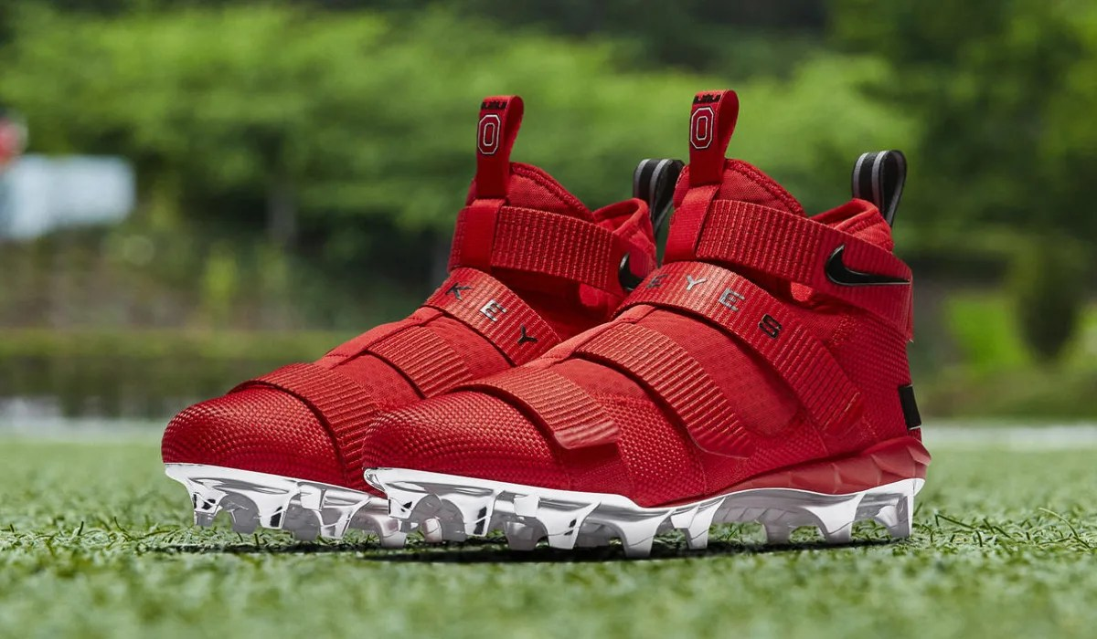 Nike LeBron Soldier 11 Cleats Ohio State Red Release Date